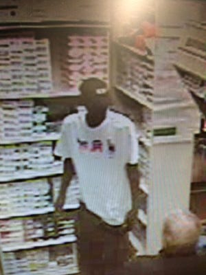 The St. Clair County Sheriff Department is looking for this person in connection with two armed robberies in the county.
