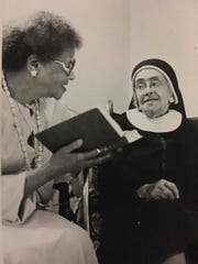 A Mercy Associate and Nurse with Sister Marie De Lourdes