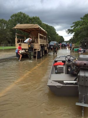 LDWF personnel are assisting with the rescue efforts in south Louisiana.