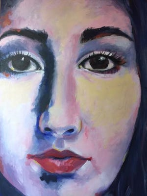 A self portrait by Molly Butler, whose works are on exhibit at Dixie Center for the Arts.