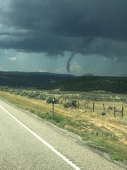 A tornado touched down in Garfield County Friday.