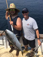 Scott Moberly from Ventura caught a 26-pound yellowtail on a two-day trip aboard the Mirage.