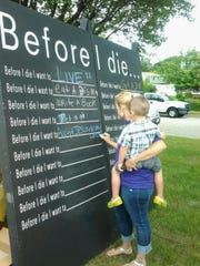 Gloucester Township Mayor David Mayer asked his public works department to construct a mobile chalkboard modeled on a design by the artist, Candy Chang. It's been used at township events to promote a conversation on end-of-life planning.