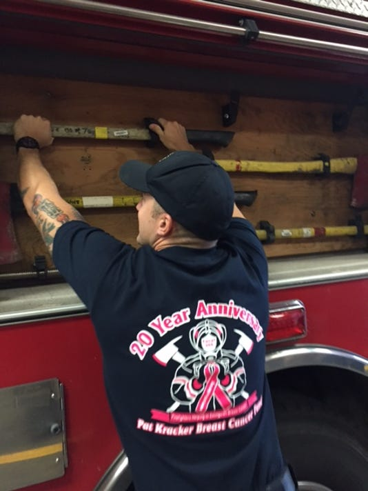 Mansfield firefighters promote breast cancer awareness.JPG