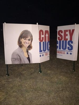 Three weeks ago, a campaign sign in Santa Cruz was spray painted with a Nazi symbol and Casey Lucius' photo was defaced with a mustache indicative of Adolf Hitler.