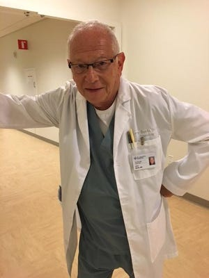 Actor Barry Bernson as Dr. Larry Banks