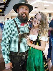 Jasper Riddle and Bailey Huffmon dress to impress at the 35th Annual Ruidoso Oktoberfest Saturday at the Ruidoso Convention Center.