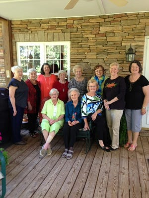 Shown seated from left are K Henderson, Miriam Lark and Kathy Omick; standing from left are Sybil Rhineheart, Elizabeth Simmons, Pat Funchess, Opal Anderson, Juanita Moon, Ruth Hopkins, Shirley Diederich and Susan Reed. Not pictured: Debbie Harnesberger.