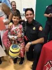 Vineland firefighter Tony Saltar at the YMCA of Vineland's