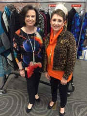 Kay Hartgraves and Pat Sartain modeled fashions from Laura�s Boutique for the 13th annual Fashions for the Cure, benefiting Cancer Services Network.