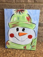 Melinda Hearn, executive director of the Jackson Arts Council, is hosting a snowman themed painting party at The Ned November 21 using this design.