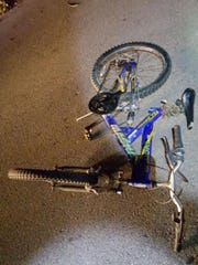 Police are looking for the man who was riding this bike in connection with the shooting of a Wayne State officer.