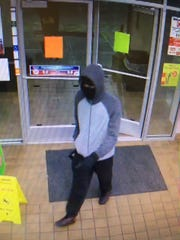 Lafayette Police Department released this photo Monday from an armed robbery at a Circle K gas station.