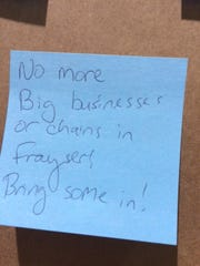 A sticky note echoes Steven Fox's thoughts about the
