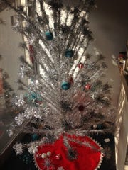 Ashley Smith bought this vintage tinsel tree at an estate sale in Milwaukee