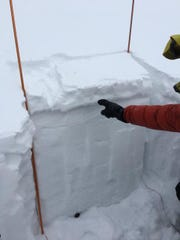 "A 2-inch thick wind slab is cracking, ""whumphing"" and breaking easily in stability tests. This was seen in the Throne area of the northern Bridgers on Jan. 3."