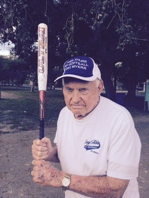 Ray Tibbs is 89 years old and still running, hitting and catching the ball.