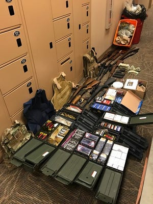 Redding Police provided this photo of items seized during a Tuesday bust.