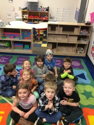 Preschool students at Cornell Elementary kept busy during December by learning words and actions for their winter program on Dec. 20. Students pictured are: Gracelynn Combs, Mason Firkins, Karson Simonson, Nadia Despotovich, Landon Firkins, Trenton Firkins, Alia Miner, Shalan Ray, Blaze Bruce and Elijah Christensen.