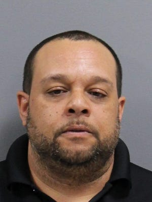This man, Brett Landes, was arrested after an alleged road rage incident on the New Jersey Turnpike in Westampton Township.