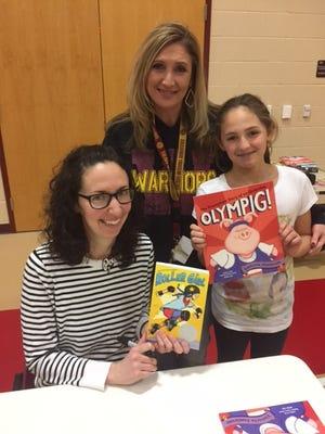 Victoria Jamieson (from left), fourth-grade teacher Katrina Salinas, and Kaily Salinas.