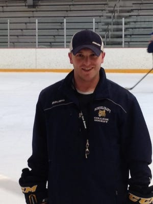 Andrew Lindsay, assistant coach for Schoolcraft College's men's hockey team, is one of the catalysts behind the Feb. 24 charity game.