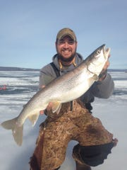 Lake trout are biting on the Chequamegon Bay.