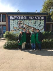 Baristas handed out coffee to nine CCISD schools to