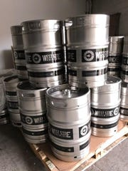 Kegs in the waiting at West Side Brewing.