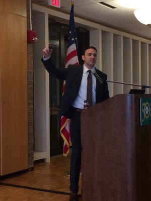 Former Navy SEAL Adam Weiner was the keynote speaker at the Farmington Family YMCA annual campaign kickoff breakfast.