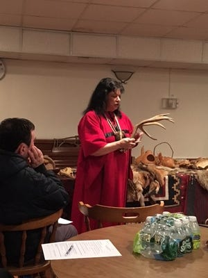 Beverly A. Friend, a Native American of Lenape Cheroke heritage, spoke at the public meeting of the Historical Society of Scotch Plains-Fanwood on Feb. 28.
