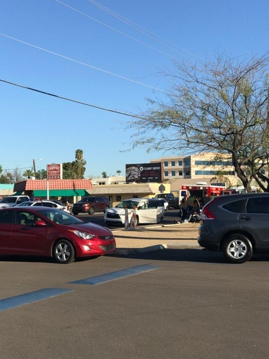 Vehicle rollover accident in Phoenix