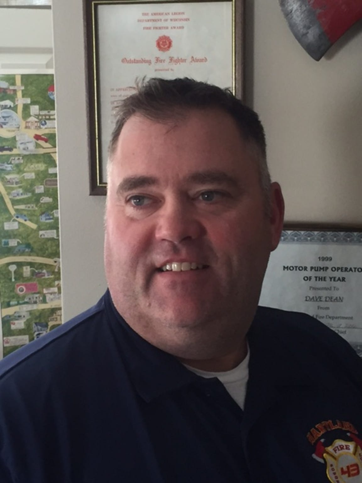 Dave Dean is chief of the Hartland Fire Department.