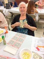 Greata Mullins of Marco Island was the jackpot winner March 9 at the Knights of Columbus Bingo night charity fundraiser.