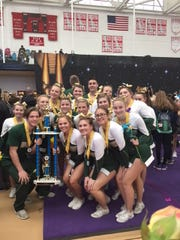 The Indian River co-ed cheerleading team won its first