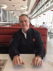 Rutgers basketball coach at lunch at Henry's Diner.