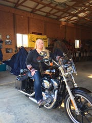Lucille Boebel is a Crestview Schools bus driver who enjoys riding a Harley Davidson Sportster whenever she can.