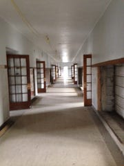 The hallways inside King Street School in Eaton Rapids. The $9.2 million redevelopment of the 80-year-old school into affordable senior housing got the green light this week.