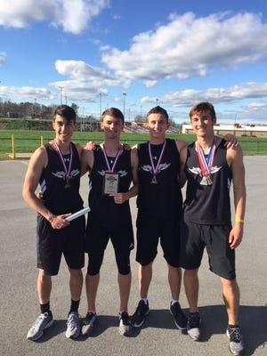 North Buncombe's boys 1,600-meter relay team.