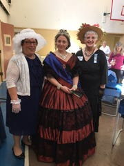 The Women's Literary Club of Bound Brook held a fundraiser on Saturday, April 8. From left: Club President Chris Burlew, Alisa DuPuy as Queen Victoria and Marybeth Hugelmeyer, College District Vice President.