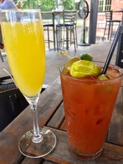 Bloody Mary and mimosa on the veranda at The Edison.
