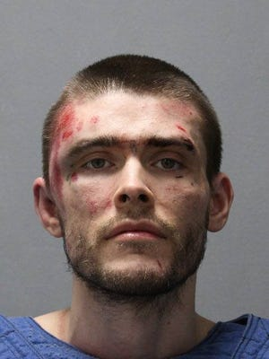 David M. Watson after being found by police after a six-day manhunt in Howard County on May 3, 2017.