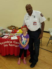 Escambia County Fire Rescue recently provided safety education at the Wedgewood Health Fair.