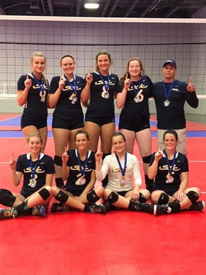 The SOVC Club team won an Ohio Valley Region clubregional championship May 14 at the Columbus Convention Center. The team played in the17 American bracket.  The team finished 95-7 in matched the last three seasons under the direction of cach Paul Tanedo.  The team won the MidEast National Qualifier championship in 2016 and theOVR regional championship in 2016 and 2017 Back row left to right: Ashley Taylor -Unioto;Hannah Hall - Unioto;Lexi Smith - Portsmouth Notre Dame;Erica Marshall - Miami Trace;Coach Paul Tanedo  Front row: Aiden Fields - Portsmouth,Madi Eberst - Unioto,Kelsey Bossert - Adena,Lea McFadden - Paint Valley.