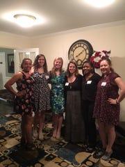 Left to right: Jamie Greene,  Taylor Breen , Molly Swayne, Jodi Viaud, Franklin Woman's Club Education Chair, Jada Edwards and Heather Attanasio.