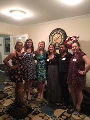 Left to right: Jamie Greene,  Taylor Breen, Molly Swayne, Jodi Viaud (Franklin Woman's Club Education Chair), Jada Edwards and Heather Attanasio.