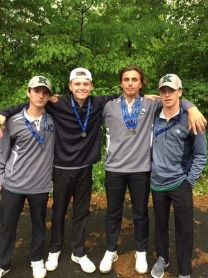 The Kinnelon foursome of Richie Neufeld, Joe Burns, Konner Hinz and Neil Verroca finished second in Group 1 in Monday's NJSIAA Tournament of Champions at Hopewell Valley Golf and Country Club.