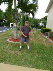 Cape Coral's Larry Epstein, 77, has played tennis regularly the last nine years.
