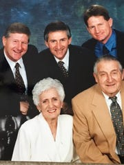 A family portrait of Randy Ball, clockwise from left, Rick Ball, Russ Ball and their parents Craig Ball and Bobbi Ball.