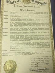 In 2007, then-Gov. Kathleen Blanco commended former